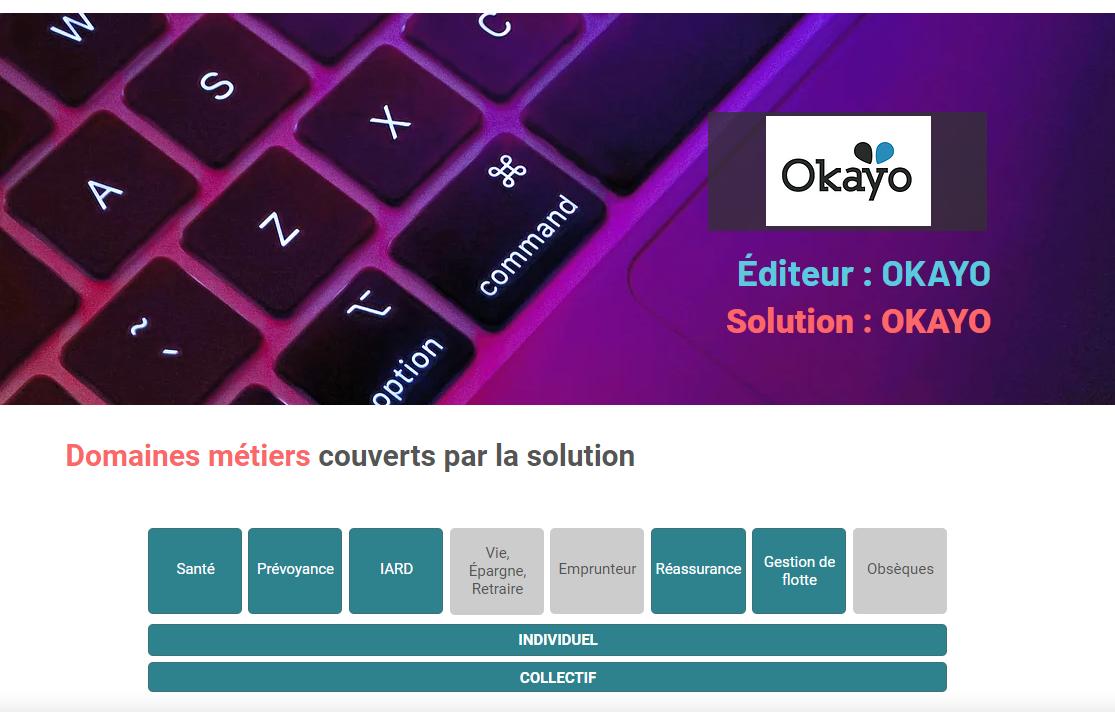 Page Okayo dans le Panorama des logiciels de gestion Assurances